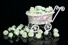 50-1000X Roses Artificial Silk Flower Heads Wholesale Lots Wedding decor (Cream)