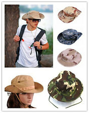 #Bucket Hat Boonie Hunting Fishing Outdoor Cap - Wide Brim Military Boonie Hat