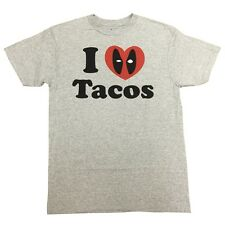 Deadpool I love Tacos Marvel Comics Officially Licensed Adult Graphic Tee Shirt