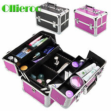 Ollieroo Aluminum Lockable Makeup  Case Jewelry Box Cosmetic Bag Organizer Hot