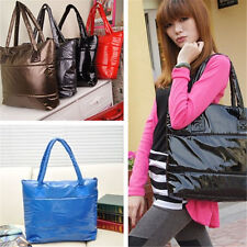 UK Women Girl Space Bale Cotton Totes Handbag Quilted Feather Down Shoulder Bag