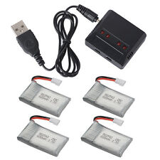 Charger+ 3.7V 25C 500/600/700mAh Lipo Battery for Syma X5C X5A F5C RC Helicopter