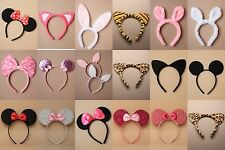 PARTY / FANCY DRESS / ANIMAL EARS / BOW ALICE BANDS : CHOOSE : PACK OF 3 / 4 / 6