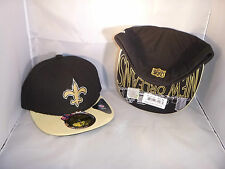 NEW ORLEANS SAINTS BLACK N GOLD NEW ERA SIDELINE YOUTH FITTED HAT SIZE 6 1/2