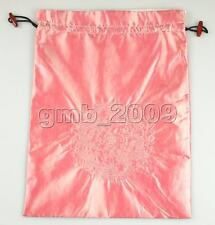 Pretty Handmade Pink Embroider Dragon Pattern Satin Silk Clothes Shoes Bag