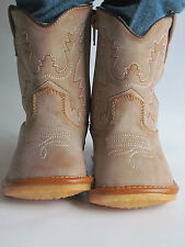 Toddler Boots - Squeaky Boots - Light Brown Cowboy/Cowgirl Boots, Up to Size 7