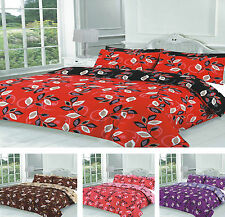 Modern Flower Design Poly Cotton Bedding Duvet/Quilt Covers With Pillow Cases