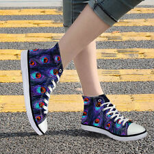 Fashion Flat High Top Canvas Lace-up Casual Sneakers Shoes for Lady Girls Women