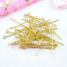 Gold Plated Eye Pins Connectors 20mm,30mm,40mm,DIY Findings R0019