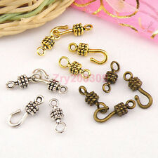 20Sets Tibetan Silver,Antiqued Gold,Bronze Hooks Connectors Toggle Clasps M1417