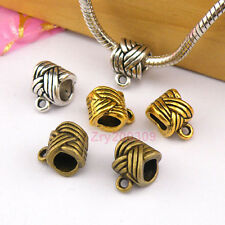12Pc Tibetan Silver,Gold,Bronze Charm Pendant Bail Connector Fit Bracelet M1244