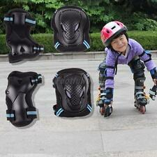 6pc KIDS ADULTS ROLLER SKATING SKATEBOARD KNEE ELBOW WRIST PROTECTIVE GUARD PADS
