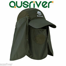 3 Colour Fishing Jungle Snap Brim Neck UV Protection Bucket Sun Flap Cap Hat