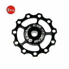 2PCS MTB Bicycle Bike Cycling Jockey Wheel 5 SHIMANO SRAM Rear Derailleur Pulley