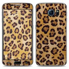 NEW Leopard Spots Vinyl Skin Sticker Cover For Galaxy S 1 2 3 4 5 6 Edge Plus