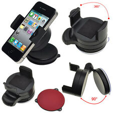 Windscreen Suction Cup 360 Rotating Mobile Phone Car Mount Holder Cradle Bracket