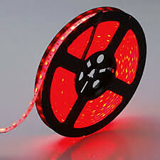 LED Flexible Strip Light 5M 300 SMD 3528 Waterproof Lamp DC 12V Red Lot