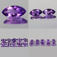 8x4mm Lot 1,2,10pcs Marquise Cut Natural AA Purple AFRICA AMETHYST