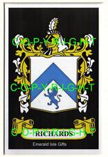 RICHARDS Family Coat of Arms Crest - Choice of Mount or Framed