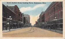 KALAMAZOO MI South Burdick Street Looking North Scene Michigan Postcard 1919