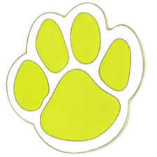 PinMart's Yellow and White Animal Paw Print School Mascot Enamel Lapel Pin