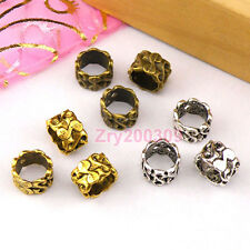 25Pc Tibetan Silver,Antiqued Gold,Bronze S Barrel Beads Fit Charm Bracelet M1394