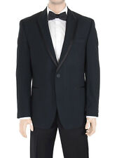 Sean John Black Textured Two Button Tuxedo Tux Suit With Peak Lapels
