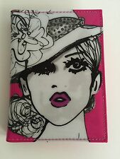 NWT Izak Zenou Passport Cover Case Holder Wallet Pink Vogue Fashion Kiss London