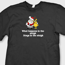 What Happens In The Sleigh Stays In The Sleigh T-shirt Funny Christmas Tee Shirt