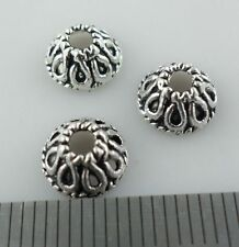 30/120/1000pcs Tibetan Silver Trumpet-Flower End Bead Caps Jewelry Making 4x8mm