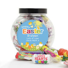 PERSONALISED EASTER GIFT Sweets Tub Unique Unusual Sweetie Jar Fun Present Idea