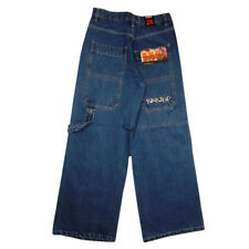 Boys Kickflip Denim Jeans Skater Baggy Kids Junior Jean Pocket Blue
