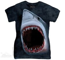 New The Mountain Shark Bite Womens T Shirt