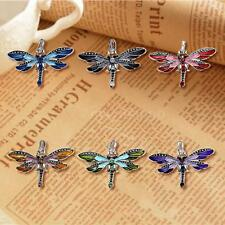 New Silver Necklace Pendant Dragonfly Ladies Crystal Rhinestone Jewelry NM W7Q3