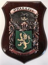 DUNN to EGAN Family Name Crest on HANDPAINTED PLAQUE - Coat of Arms