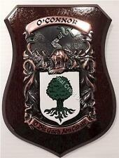 HAGARTY to HANNIGAN Family Name Crest on HANDPAINTED PLAQUE - Coat of Arms