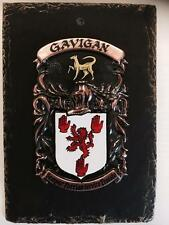 Your HANDPAINTED Name Crest on SLATE PLAQUE - Coat of Arms MATHIS to MC CALL