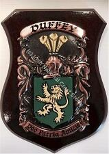 Mc Elwain to Mc Girr Family Handpainted Coat of Arms Crest PLAQUE Shield