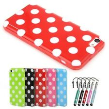 For Apple iPhone 5c Gel Case Polka Dots Silicone Rubber Cover Bumper 100% Fits