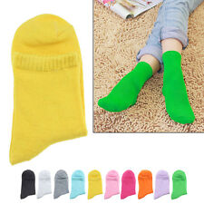 Women Girls Candy Colored Cute Socks Middle Tude Cotton Casual Socks