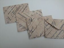 Vintage French style wedding decorations confetti, envelopes, butterfly, hearts