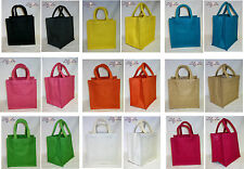 Various Plain Coloured Jute lunch bag - natural eco friendly gift small novelty