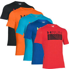 2016 Under Armour Run Track Charged Cotton SS T-Shirt Mens Training Sport Tee