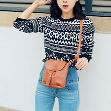 Vintage Women Shoulder bag PU Leather Tassel Handbags Crossbody Bag Lady Fashion