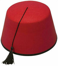 Fez Hat Red Moroccan Turkish Hat Tommy Cooper Costume Fancy Dress Up