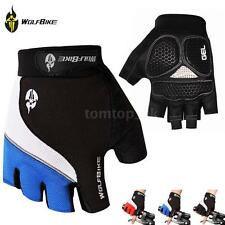 Mens Bicycle Cycling Half Finger Gloves Gel Pad Fingerless Gloves Sports Q1M4