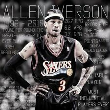 Allen Iverson Basketball Star Fabric Art Cloth Poster 24inch X Decor 28