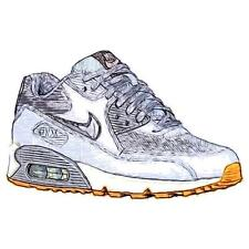 Nike Air Max 90 - Women's Running Shoes (Wolf GY/DK GY/Pure Platinum Width:Medi