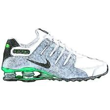 Nike Shox NZ - Men's Running Shoes (WT/Metallic Silver/GN Pulse/BK Width:Medium)
