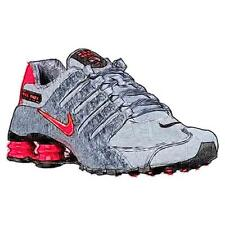Nike Shox NZ - Men's Running Shoes (WT/BK/Anthracite/Infrared Width:Medium)
